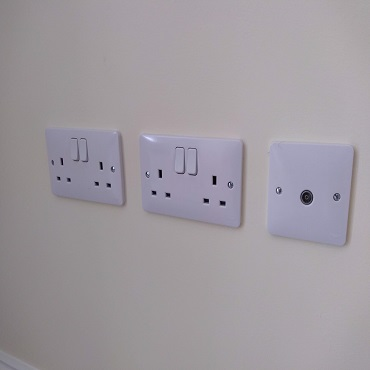 Hager white socket oultets